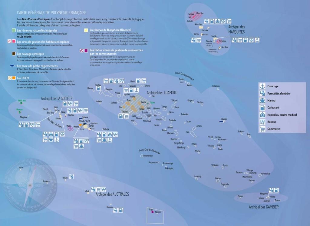 Carte générale de la Polynésie française