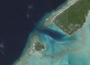 Vue satellite de l'anse Amyot - Toau