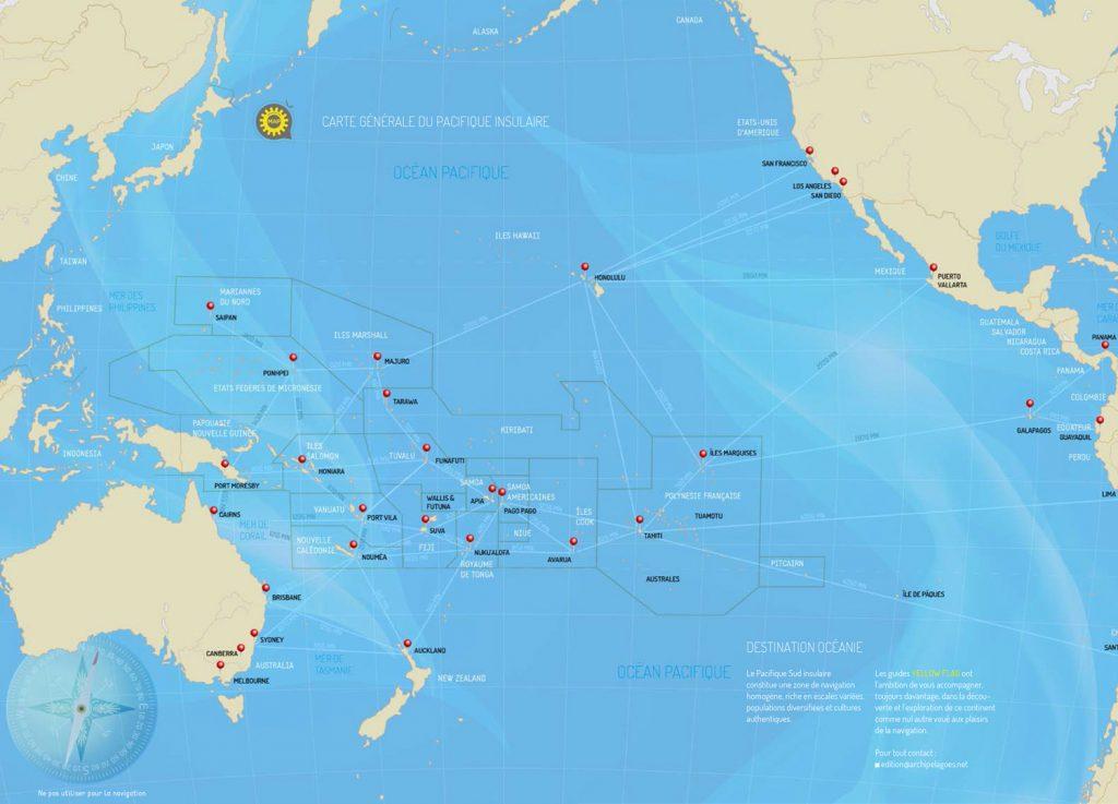 carte generale du Pacifique insulaire
